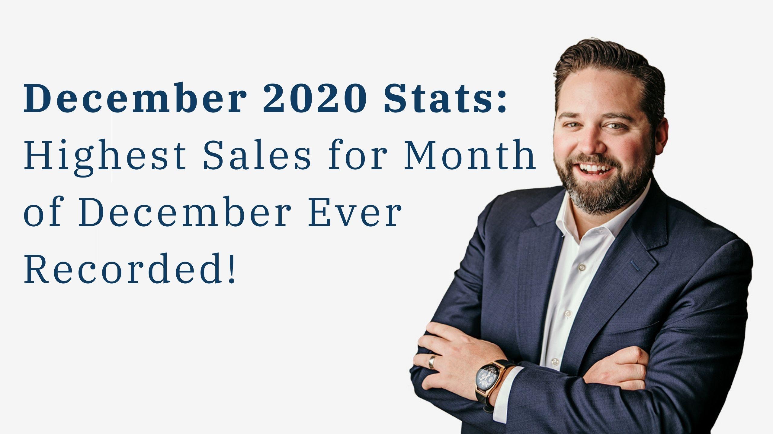 Bob's update on december real estate stats